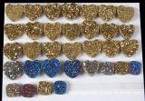 Gemstone de Druzy para a jóia