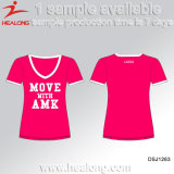 Healong最も売れ行きの良いSubimationの大学リーグ女性Tシャツ