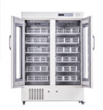 Refrigerador do banco de sangue da porta dobro da alta qualidade