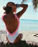 Blume um eine PCS-Schwimmen-Klage, Strand, Swimmingpool-Bikini