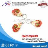 Geschikt om gedrukt te worden Embleem Epoxy Slimme RFID Keyfob met Mf 1K Spaander