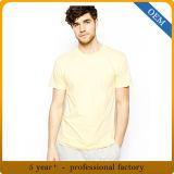 Custom plaine d'hommes T-shirt jaune