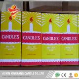 Paraffinwachs-weiße Kerze gepackt im gelber Kasten-heißen Verkauf nach Ghana