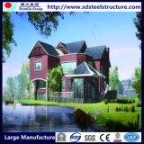 現代安く軽い鉄骨構造のプレハブの別荘
