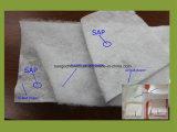 Papier d'Airlaid de pulpe de duvet avec la sève enduite du film de PE
