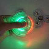 주마등 색깔 창조적인 싱숭생숭함 방적공 LED 아BS 플라스틱 EDC는 손 방적공 LED 회전시키는 최고 반대로 긴장 장난감을