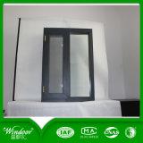 Finestra di scivolamento di alluminio rivestita della polvere grigia di colore con il prezzo basso
