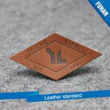 Roupas de moda Jovem estilo Brown Color Leather Patch