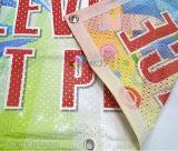 Scambio di calore su ordinazione del tessuto di maglia di alta qualità che fa pubblicità alla bandiera della bandierina