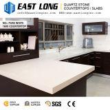 Super pour le bar en pierre de quartz blanc plateaux avec la surface polie/brillant