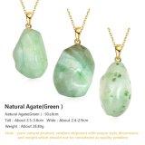 De mooie Onregelmatige Natuurlijke Juwelen van de Halsband van de Tegenhanger van de Steen van het Agaat