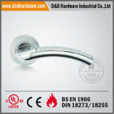 En1906 Solid Door Handle auf Rose