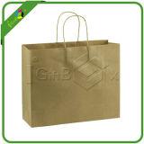 Мешок Brown/Kraft бумажный с ручкой для упаковки оптовой продажи ткани