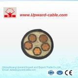 Câble électrique à haute tension coaxial de gaine de PVC