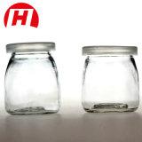 frasco de leite do frasco de vidro do pudim 100ml/200ml com cortiça