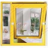 Aluminium/Aluminum Tilt und Turn Window mit Aufbauen-in Shutters (BHA-CW34)