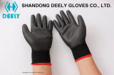 Черные перчатки работы PU