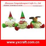크리스마스 훈장 (ZY14Y178-1-2-3) 크리스마스 나무로 되는 사발 바구니 훈장