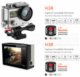 A câmera 12MP da ação de H3r WiFi Dual controlador do esporte Camera+Remote de Screen+4k ultra HD impermeável