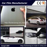 3D автомобиля стикера волокна углерода Wrap / автомобиля стикер цвета серебра 1,52 * 30м Tr1-Без Пузыри воздуха свободные