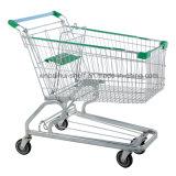 Carro barato por atacado do trole da compra do metal do mantimento do varejo do carro do impulso do supermercado do preço para a venda
