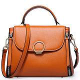 2017의 새 모델 동향 실제적인 가죽 여자 핸드백 어깨에 매는 가방은 주문 로고 Emg5121를 받아들인다