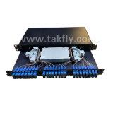 Пульт временных соединительных кабелей оптически ODF оптического волокна 48 портов установленное шкафом