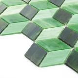 Azulejo de mosaico manchado nuevo diseño del vidrio verde para el cuarto de baño Backsplash