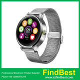 Relógio esperto de Bluetooth da cinta de relógio do aço & do couro de K88h