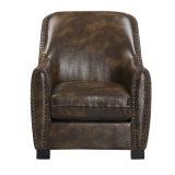Cadeira luxuoso moderna do sofá do couro da sala de estar do negócio