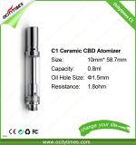 Vidrio de cerámica Atomzier del cartucho 510 del petróleo del CO2 de la bobina del tanque de cristal
