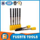 Altin revestiu o cortador contínuo do moinho de extremidade do carboneto de 4 flautas 10mm