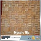 壁のタイルまたは壁のクラッディングのための自然な石造りの美しい舗装の白いTravertineのモザイク・タイル