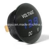 Digitalanzeige Gleichstrom-Voltmeter-Kontaktbuchse des Auto-12V-24V des Motorrad-LED Wasserdicht