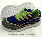Los zapatos ocasionales coloridos del deporte de la inyección del niño barato (FF924-3)