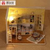 Divertido Pequeño juguete de madera DIY Assemblling casa de muñecas