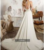 Способа Organza Aline Beaded Bridal платья 2017 венчания CT006