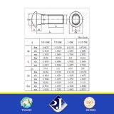 Болт следа шеи ASME/ANSI b 18.10 полукруглой головки ранга 8.8 UL/RoHS эллиптический