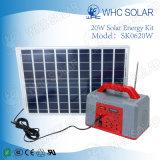 Sistema de iluminação verde solar do mini tamanho 20W portátil