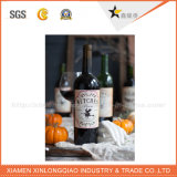 習慣によって印刷される札のシールの印刷サービスのワイン・ボトルのステッカー
