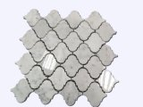 2017 Preço grossista Arabesque Lantern Carrara mosaicos de mármore branco