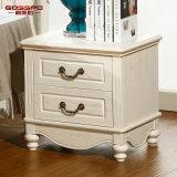 Governo bianco del lato del letto della quercia rossa della vernice di serie domestica della mobilia (GSP14-012)
