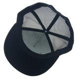 Kundenspezifische fördernde Hut-Schwarz-Polyester-Ineinander greifen-Drucken-Ineinander greifen-Fernlastfahrer-Schutzkappe