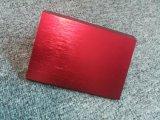 Brossé le profil d'extrusion en aluminium anodisé rouge