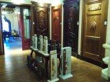 Porta da madeira contínua, porta dobro do estilo clássico com cinzeladura