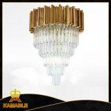 Iluminação de cristal do pendente do candelabro da decoração do projeto do hotel (KAP17-005)