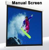 Écran de projection manuel blanc mat de projecteur de bureau de support de mur de 150 pouces