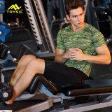 Desgaste activo de la camiseta de la gimnasia de la camisa de deporte de las medias del Mens de la manera