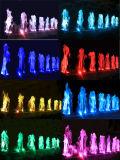 Fontana dell'interno di musica dell'acqua di Serac di uso del giardino con l'indicatore luminoso variopinto del LED