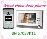 7インチTFT LCDのモニタの夜間視界の屋外のカメラが付いているビデオドアの電話相互通信方式
